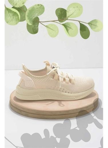 Bambi Kadın Sneaker K019861543 Bej